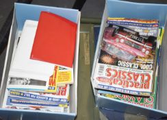 2 x Boxes of Vintage Car Magazines PME273