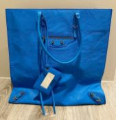 1 x Balenciaga Bag In Blue - Preowned In Like New Condition - Ref: LOT55 - CL594 -