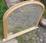 1 x Over Mantle Oak Mirror - Dimensions: 98cm x h75cm - Ref: JB240 - Pre-Owned - NO VAT ON THE