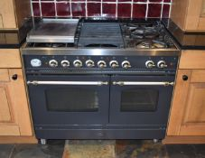 1 x Britannia 100cm Range Cooker With Griddle and Hotplate - G20 Gas - Location: Macclesfield