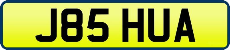 1 x Private Vehicle Registration Car Plate - J85 HUA -CL590 - Location: Altrincham WA14