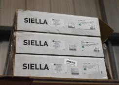 3 x Trilux Siella Surface Mounted LED Ceiling Luminaire With Translucent Cover New Boxed Stock