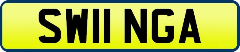 1 x Private Vehicle Registration Car Plate - SW11 NGA -CL590 - Location: Altrincham WA14
