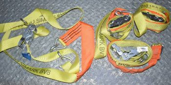 4 x Simark Load Control Cargo Vehicle Ratchet Straps - 3.5m Length - Part No BV8 - CL622 - Ref