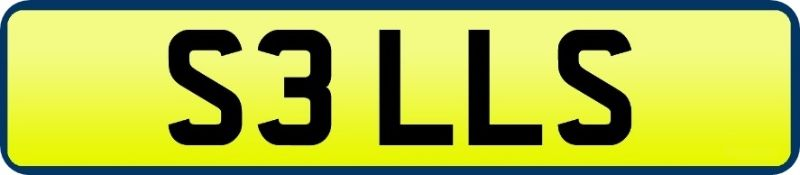 1 x Private Vehicle Registration Car Plate - S3 LLS - CL590 - Location: Altrincham WA14
