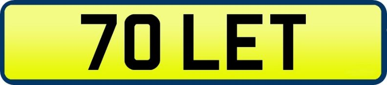 1 x Private Vehicle Registration Car Plate - 70 LET - CL590 - Location: Altrincham WA14