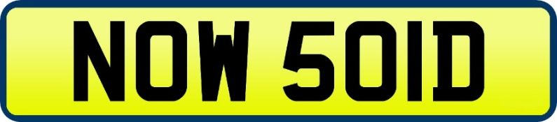 1 x Private Vehicle Registration Car Plate - NOW 50LD- CL590 - Location: Altrincham WA14More