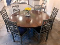 1 x Solid Wood Round Dining Table - NO VAT ON THE HAMMER