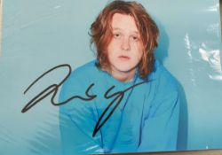 1 x Signed Autograph Picture - LEWIS CAPALDI - With COA  - CL590 - NO VAT ON THE HAMMER PRICE -