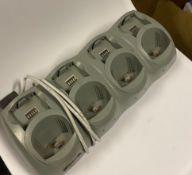 5 x Symbol CRD 6100-4040-000 Quad Slot Cradle Charger - Used Condition - Location: Altrincham WA14 -