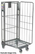 1 x Roller Cage With Heavy Duty Castors - Demountable With Three Sides - Ideal For Storing and