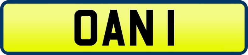 1 x Private Vehicle Registration Car Plate - OAN 1 - CL590 - Location: Altrincham WA14