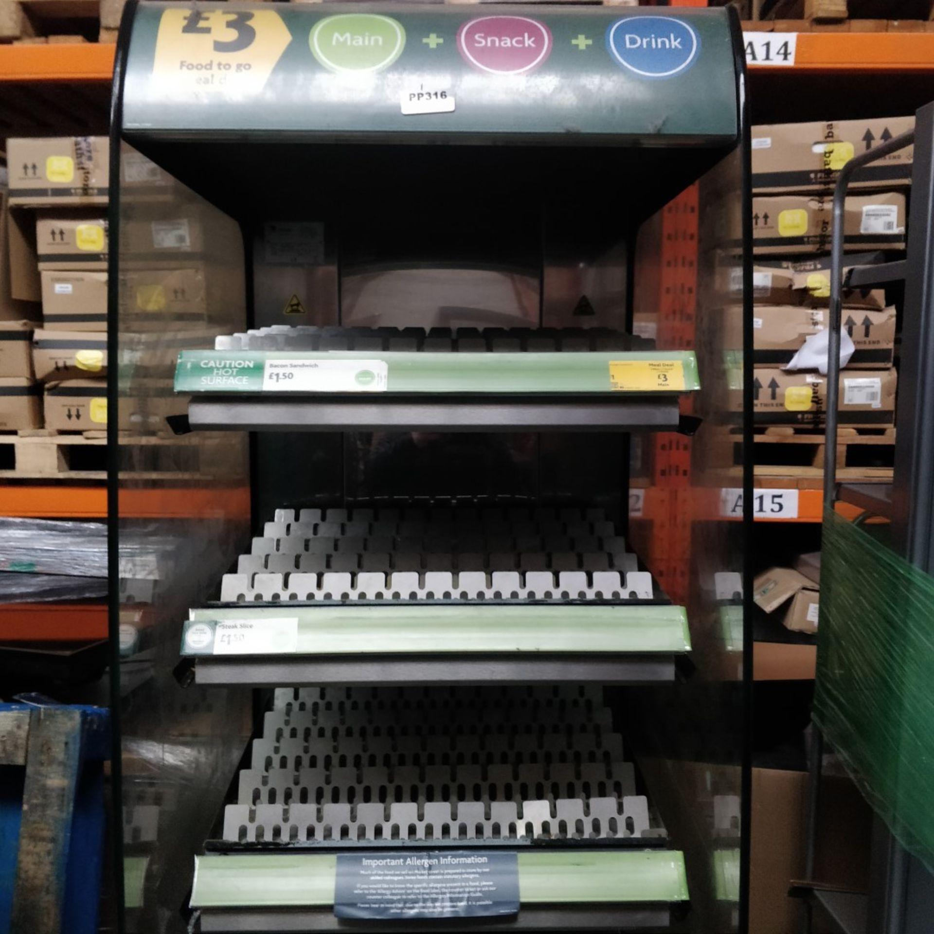 1 x Frijado Multi Deck 60 5 Level Heated Grab and Go Display Warmer - 400v 3 Phase - H197 x W60 x - Image 5 of 11