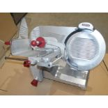 1 x AVERY BERKEL Commercial Meat Slicer In Stainless Steel - Dimensions: H54 x W52 x D42cm - Very