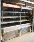 2 x Multi Deck Hot Food Warmer Heated Display Units Hot Food Deli Self Serve Displays - Features Gla