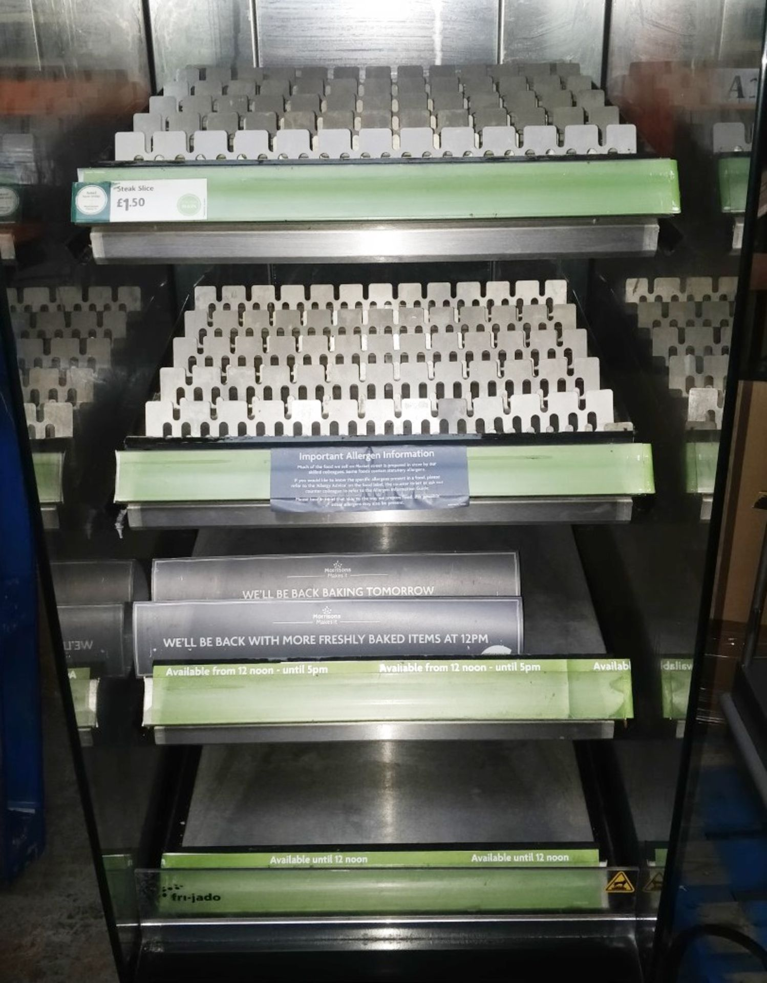 1 x Frijado Multi Deck 60 5 Level Heated Grab and Go Display Warmer - 400v 3 Phase - H197 x W60 x - Image 11 of 11