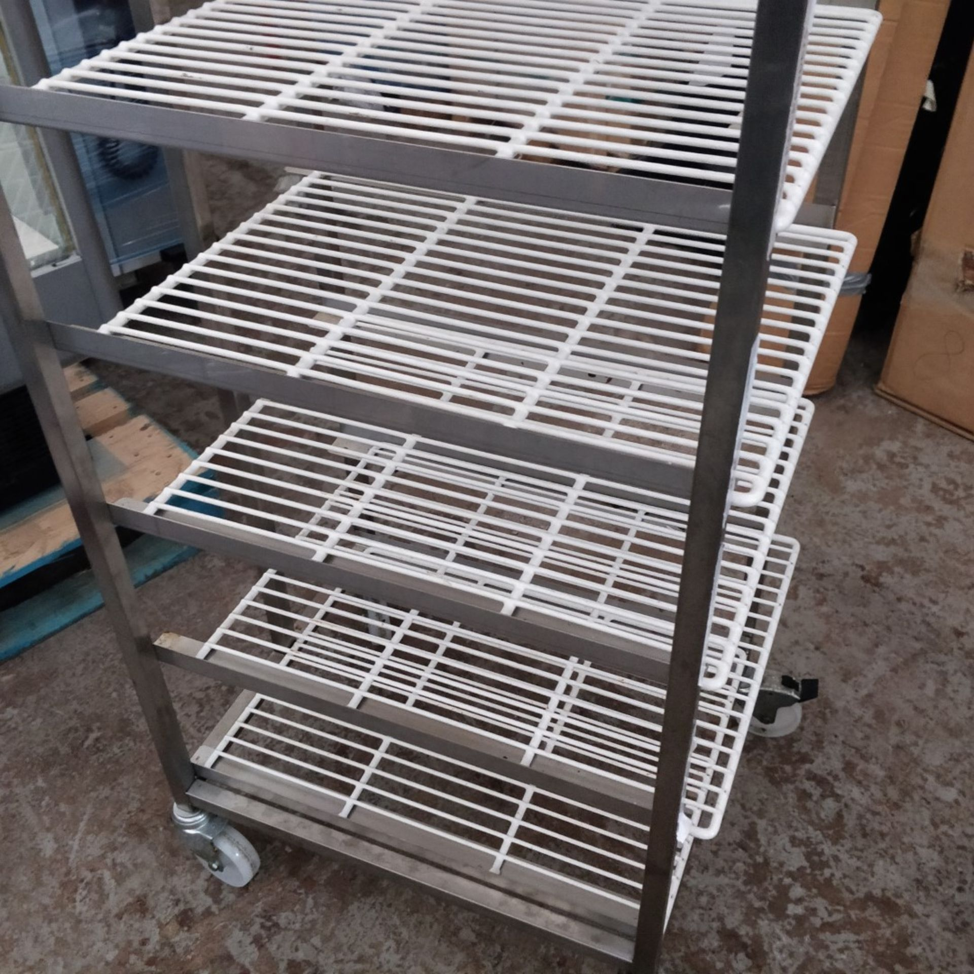 1 x Commercial Kitchen Upright Mobile Tray Rack With Eight Wire Racks - Size to Follow - Recently - Image 3 of 3
