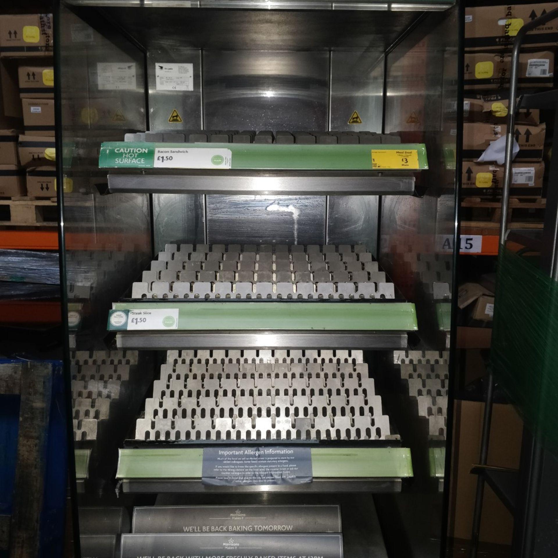 1 x Frijado Multi Deck 60 5 Level Heated Grab and Go Display Warmer - 400v 3 Phase - H197 x W60 x - Image 10 of 11