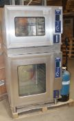 1 x HOBART Commercial Double Oven Stack -  Includes 1 x Combination 10-Grid + 1 x Steam 6-Grid Oven