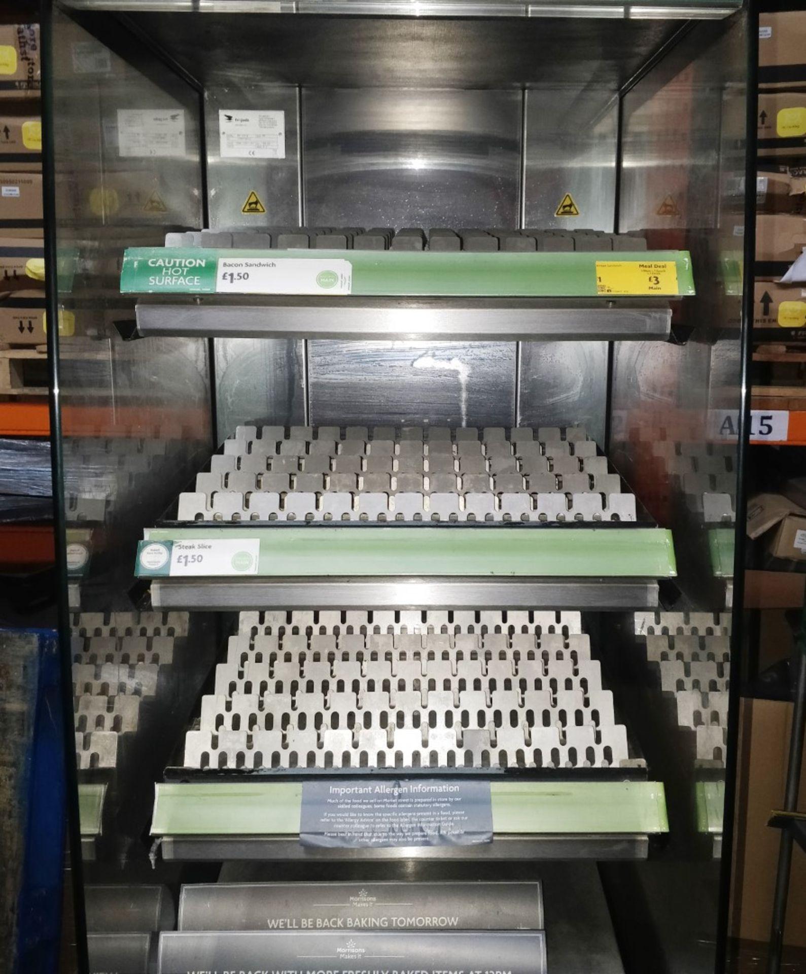 1 x Frijado Multi Deck 60 5 Level Heated Grab and Go Display Warmer - 400v 3 Phase - H197 x W60 x - Image 2 of 11