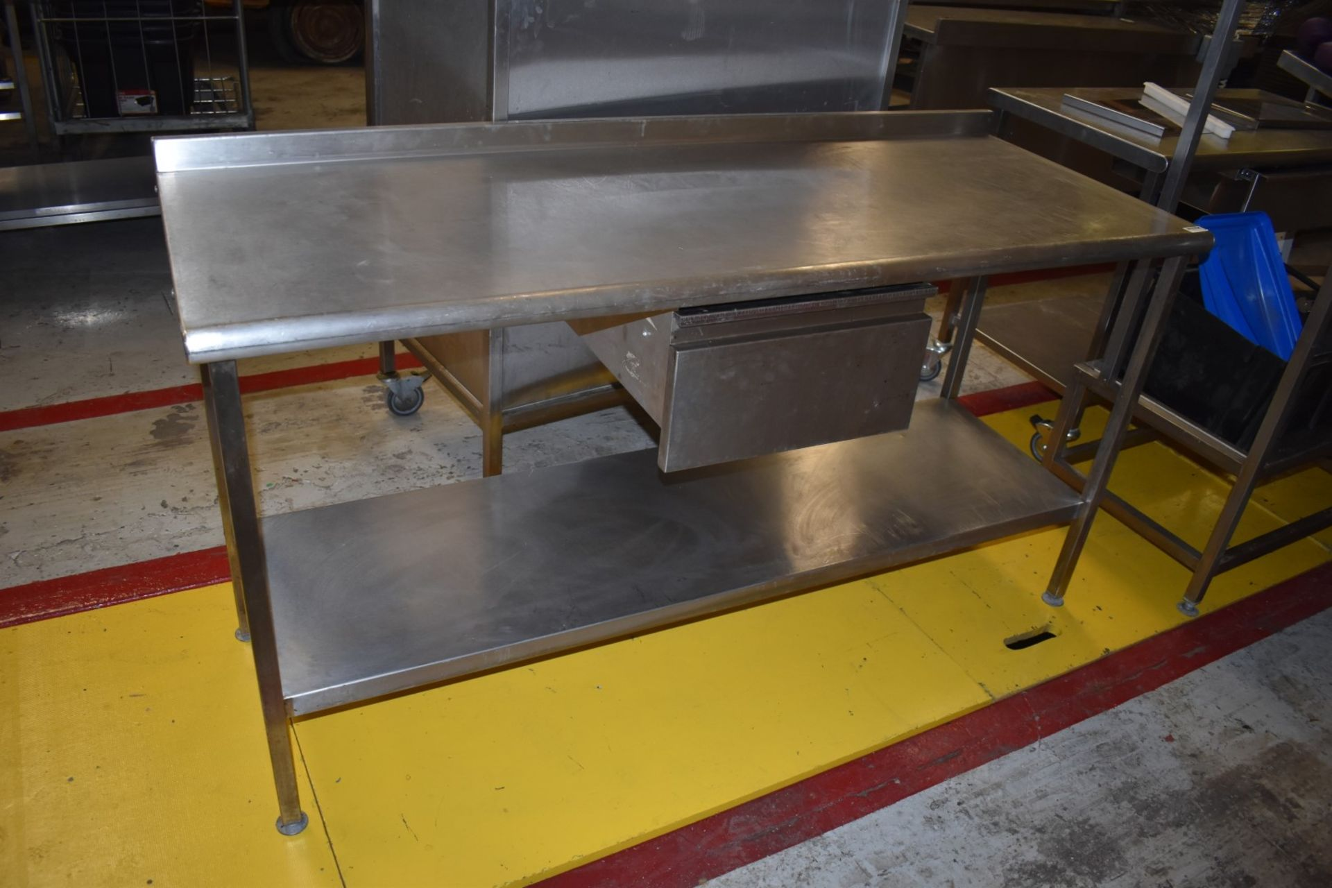 1 x Stainless Steel Prep Bench With Drawer and Undershelf - H87 x W170 x D65 cms - CL626 - Ref MS304 - Image 4 of 6