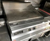 1 x Falcon Countertop 3-Phase Griddle With Solid Top - H44 x 80 x 80 cms - CL554 - Ref IM213 - Locat