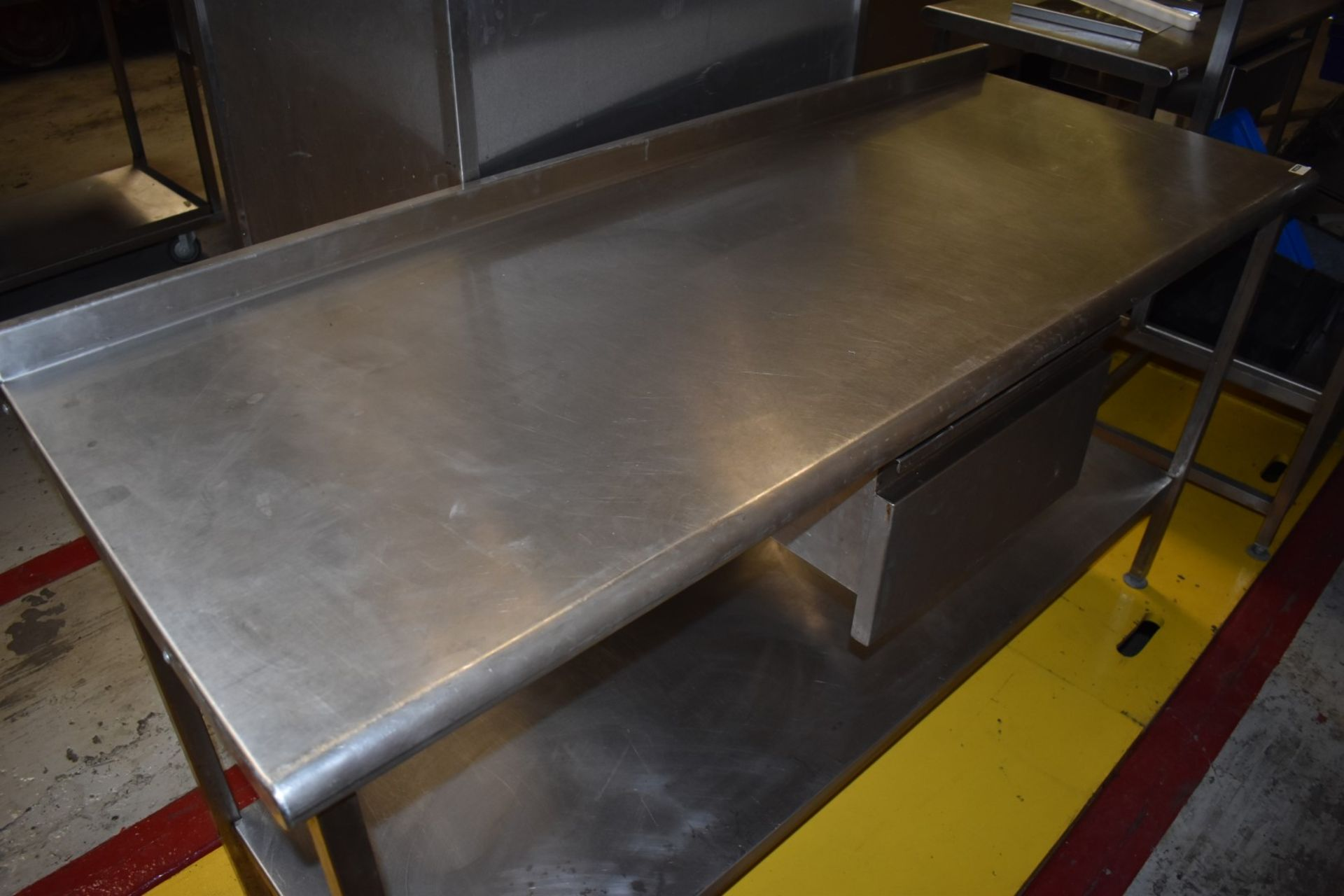 1 x Stainless Steel Prep Bench With Drawer and Undershelf - H87 x W170 x D65 cms - CL626 - Ref MS304 - Image 3 of 6