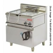 1 x Arisco EP722 Tilting Brat Pan - 3 Phase Electric - CL531 - Location: Essex