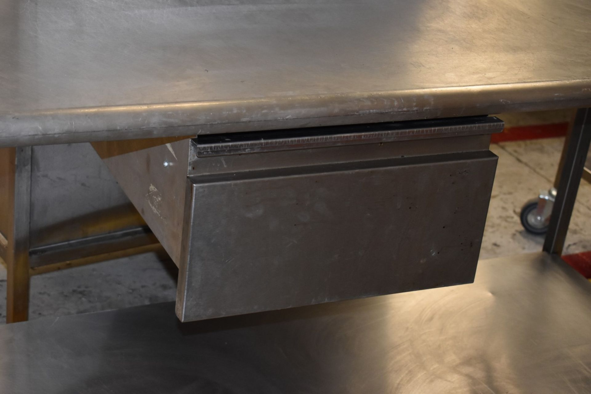 1 x Stainless Steel Prep Bench With Drawer and Undershelf - H87 x W170 x D65 cms - CL626 - Ref MS304 - Image 6 of 6