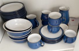 60 x Pieces Of Assorted Premium DENBY Imperial Blue Crockery Tableware - From An Exclusive
