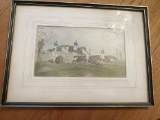 1 x Vintage Framed Picture Of Horse Racing - From An Exclusive Property In Leeds - No VAT