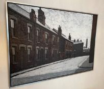 1 x Original Painting On Canvas Depicting An Industrial Street By Artist Stuart Walton - Signed '