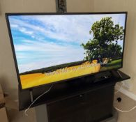 """1 x 43"""" LG TV With Storage Unit, DVD Home Theatre Sound System With Speakers & Remote - From An"""
