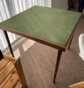 1 x Card Table Topped With Green Baize Fabric - From An Exclusive Property In Leeds - No VAT on