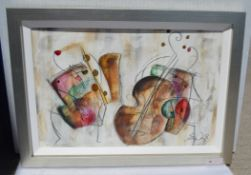 1 x Framed Artwork By Eric Waugh - From An Exclusive Property In Hale Barns - 108 x 76 x 6cm