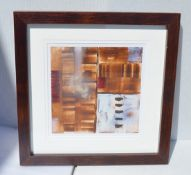 1 x Framed Original Mixed Media Artwork Signed By Artist Orla May - From An Exclusive Property In