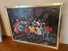 1 x Colourful Picture Of Black Dancers - Dimensions: 43.5 x 33.5cm - From An Exclusive Property In