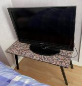 1 x Rectagular Table With Tiled Mosiac Top - Lot Also Includes A Lamp As Pictured - From An
