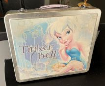 1 x Vintage Disney Tinker Bell Metal Case With Handle - Dimensions: 31 x 27.5 x D4.5cm