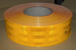 1 x Roll of 3M Conspicuity Tape Reflective Sheeting - Size 55mm x 50m - Diamond Grade - Colour