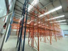 6 x Bays of RediRack Warehouse PALLET RACKING - Lot Includes 7 x Uprights and 24 x Crossbeams -