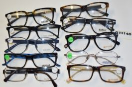 10 x Assorted Pairs of Designer Spectacle Eye Glasses - Ex Display Stock - Brands Include Dolce &