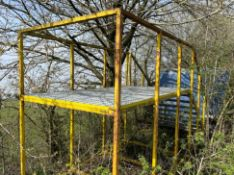 1 x Industrial Platform With Stairs and Perforated Galvanised Steel Base - Dimensions: H290 x L600 x