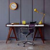 1 x Blue Suntree Ellwood Trestle Desk With a Dark Walnut Finish - RRP £280.00!
