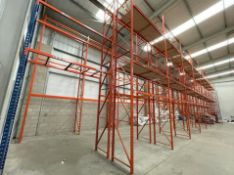 10 x Bays of RediRack Warehouse PALLET RACKING - Lot Includes 11 x Uprights and 60 x Crossbeams -