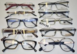 10 x Assorted Pairs of Designer Spectacle Eye Glasses - Ex Display Stock - Brands Include French