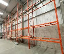 6 x Bays of RediRack Warehouse PALLET RACKING - Lot Includes 7 x Uprights and 38 x Crossbeams -
