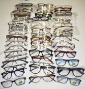 50 x Assorted Pairs of Spectacle Eye Glasses - Ex Display Stock - Various Designs and Brands