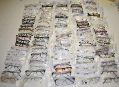 100 x Assorted Pairs of Spectacle Eye Glasses - New and Unused Stock - Various Designs and Brands