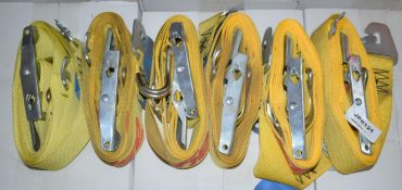 6 x TRP Load Control Cargo Vehicle Straps - 4m Length - CL622 - Ref JPR121 WH1 - Location: